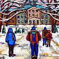 L'art De Mcgill University Tableaux A Vendre Montreal Art For Sale Petits Formats Mcgill Paintings  by Carole Spandau
