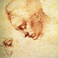 Study For The Head Of Leda by Michelangelo