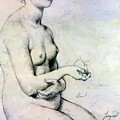 Study For Vaus Paphos by Ingres Jean Auguste Dominique