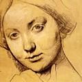 Study For Vicomtesse D Hausonville Born Louise Albertine De Broglie by Ingres Jean Auguste Dominique