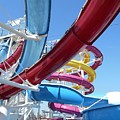 Study In Shipboard Waterslides by Carolyn Quinn