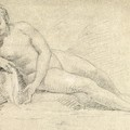 Study Of A Female Nude  by William Hogarth