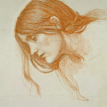 Study of a Girls Head by John William Waterhouse