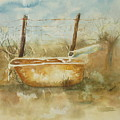Study Of A Watering Tub by Vicki  Housel