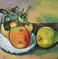 Study Of Cezanne's Apple And A Pear by Linda Anderson