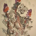 Study Of Flowers Y by Edward Wolverton