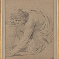 Study Of Man's Figure Stooping To Pick Up An Object by Celestial Images
