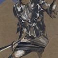 Study Of Perseus In Armour For The Finding Of Medusa by Edward Burne-Jones