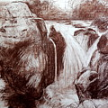 Study Of Rocks At Betws-y-coed by Harry Robertson
