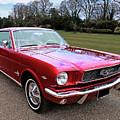 Stunning 1966 Metallic Red Mustang by Gill Billington