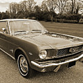 Stunning '66 Mustang In Sepia by Gill Billington