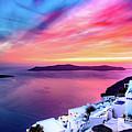 Stunning Santorini Sunset - Santorini, Greece by Global Light Photography - Nicole Leffer