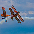 Stunt Biplanes With Wingwalkers by Chris Lord