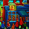 St.viateur Bagel And Hockey Kids by Carole Spandau