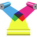 Subtractive Color Mixing With Print Cylinders by Peter Hermes Furian