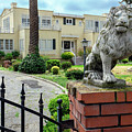 Suburban Antique House With Lion Hayward California 22 by Kathy Anselmo