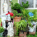 Suburban House With Front Yard Religious Shrine Hayward California 10 by Kathy Anselmo