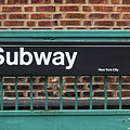 Subway Sign In New York City by Antonio Gravante
