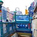 Subway Station Entrance 2 by Jeelan Clark