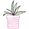 Succulent In A Pink Pot- Art By Linda Woods by Linda Woods