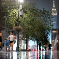 Sudden Downpour, New York City -130522 by John Bald