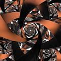 Suede Spiral by Ron Bissett