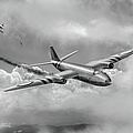 Suez Canberra Pr7 Shoot Down Bw Version by Gary Eason