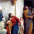 Suffer The Children by Carl Heinrich Bloch