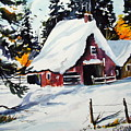 Sugar Shack At Grande Mere by Wilfred McOstrich