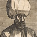 Suleyman The Magnificent , Engraved By Melchior Lorck by Melchior Lorck
