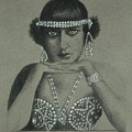 Sultry Silent Star -- Portrait Of Silent Film Star by Jayne Somogy