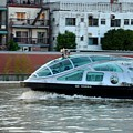 Sumida River Cruise Boat In Motion Tokyo Japan  by Imran Ahmed