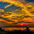 Summer Sunset Over The Delaware River by Nick Zelinsky