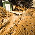 Summer Beach Shacks by Jorgo Photography - Wall Art Gallery