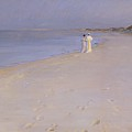 Summer Evening At The South Beach by Peder Severin Kroyer