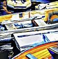 Summer Fishing Boats by Roxy Hurtubise
