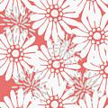 Summer Flowers Red by Maria Heyens