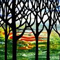 Summer Forest Abstract  by Irina Sztukowski