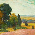 Summer Landscape By John William Beatty by John William Beatty