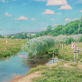 Summer Landscape With Children by Johan Krouthen