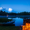 Summer Nights On The Pond by John Crookes