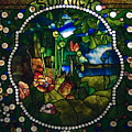 Summer Stained Glass Panel by Sally Weigand