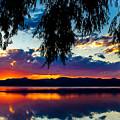 Sunset At Agency Lake, Oregon by Tirza Roring