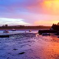 Summer Sunset At Low Tide by Harriet Harding