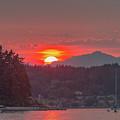 Summer Sunset Over Yukon Harbor.1 by E Faithe Lester
