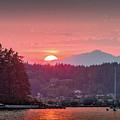 Summer Sunset Over Yukon Harbor.2 by E Faithe Lester