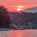 Summer Sunset Over Yukon Harbor.3 by E Faithe Lester