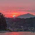 Summer Sunset Over Yukon Harbor.4 by E Faithe Lester