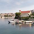 summer vacation scene Neos Marmaras Greece by Goce Risteski