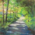 summer woods at Kenoza Lake by Leslie Alfred McGrath